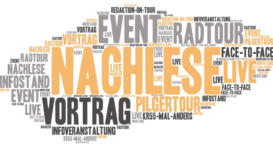 Nachlese: Vortrag, Event, Pilgertour, Infostand