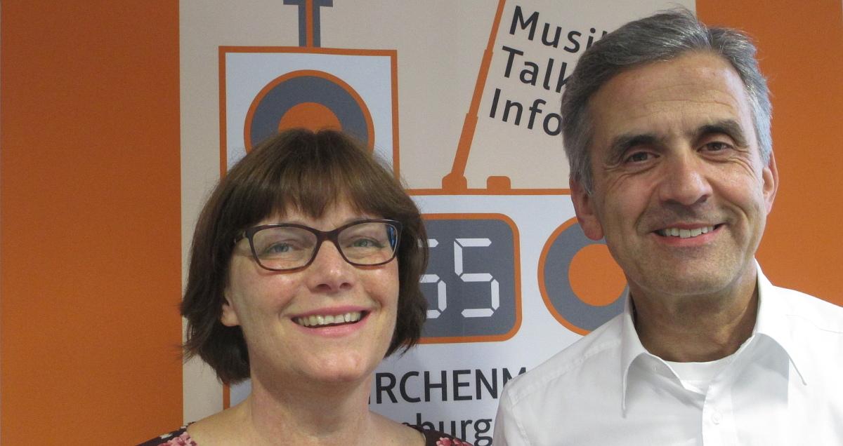 Birgit und Hossein Panahi bei KR55 im Studio